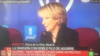 """Esperanza Aguirre, contra laSexta: """"La Secta quiere que yo me vaya a la tumba"""""""