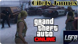 GTA 5 ONLINE: GILETS JAUNES Blocage version Los Santos