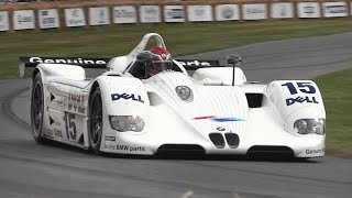 BMW V12 LMR Le Mans Prototype – Accelerations, Fly Bys  GLORIOUS Engine Sound!!