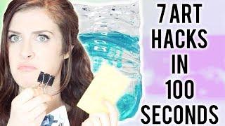 7 ART HACKS in 100 SECONDS!