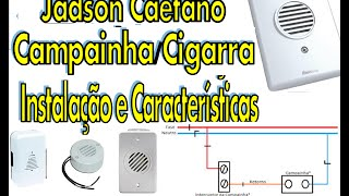 Campainha e Cigarra Instalação Elétrica Fácil e Rápido Jadson Caetano