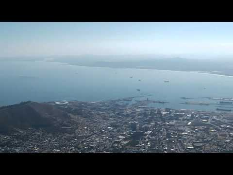Panoramic views of Cape Town: Table Mountain, Signal Hill