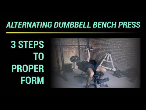 Alternating Dumbbell Bench Press