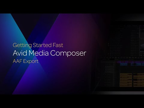 AAF Export in Media Composer