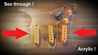 How to make a Clear Perspex Stratocaster Pickguard