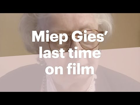 Miep Gies is one of the helpers of the people in hiding.