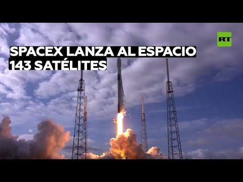 SpaceX pone en órbita un número récord de satélites en un solo cohete