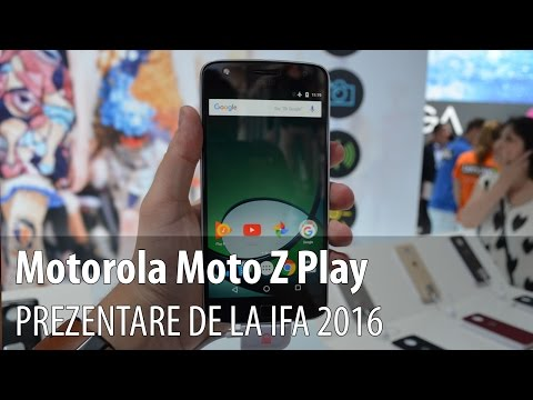 Motorola Moto Z Play Prezentare Hands-on