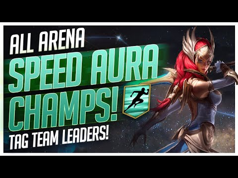 RAID | ALL Arena Speed Aura Champs! | 3v3 Tag Team Leaders!
