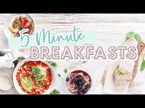 EASY 5 Minute Breakfast Recipes   Simple & Healthy Ideas