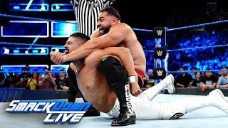 """Rusev & Lana vs. Andrade """"Cien"""" Almas & Zelina Vega: SmackDown LIVE, Aug. 21, 2018"""