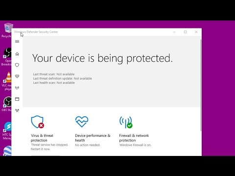 Windows Defender Security Center - Disable Tray Icon
