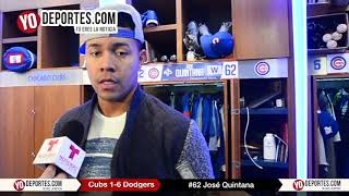 No tenemos mañana: José Quintana luego de perder Chicago Cubs 1-6 LA Dodgers