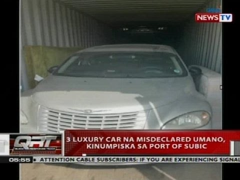 3 Luxury Cars Na Misdeclared Umano Kinumpiska Sa Port Of Subic