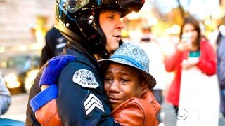 Hug of officer at Portland's Ferguson protest goes viral