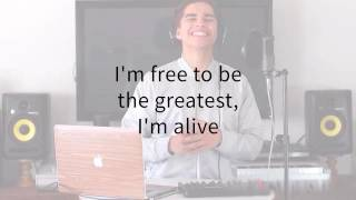 The Greatest - Sia Ft Kendrick Lamar ( ALEX AIONO COVER LYRICS )