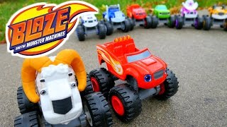 BLAZE AND THE MONSTER MACHINES with The Bighorn Truck a Blaze Monster Machines Parody