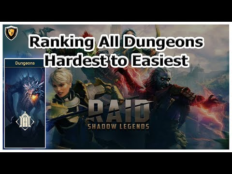 RAID Shadow Legends | Ranking All Dungeons - Hardest to Easiest