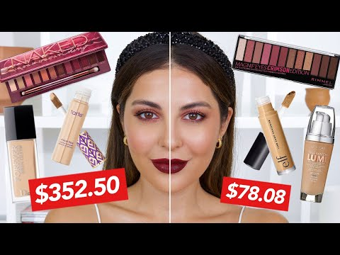 Full Face Of Dupes | Drugstore vs. High End Makeup