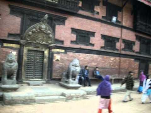 'Patan  Darbar Square in Nepal'.AVI