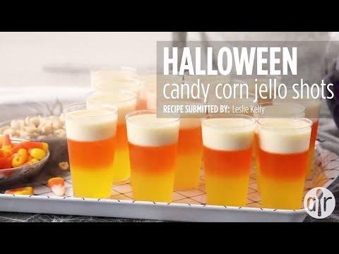 How to Make Halloween Candy Corn Jello Shots   Halloween Recipes   Allrecipes.com