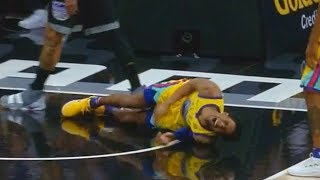 Patrick McCaw Scary Fall Injury! Warriors vs Kings