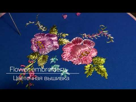 Flower embroidery : Big roses | floral stitches| beautiful pattern