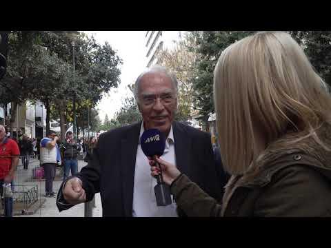 Ο Βασίλης Λεβέντης στο κέντρο της Αθήνας (δηλώσεις στον ΑΝΤ1, 21-12-2019)
