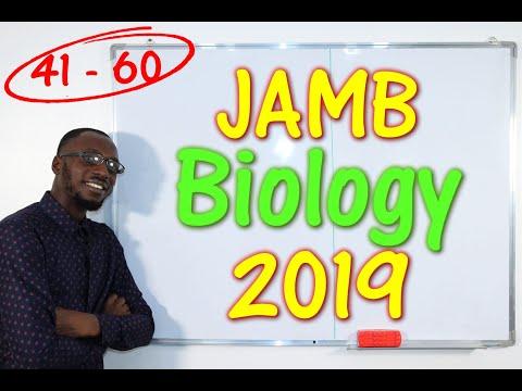 JAMB CBT Biology 2019 Past Questions 41 - 60