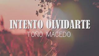TOÑO MACEDO - INTENTO OLVIDARTE (Video Lyrics/Letra)