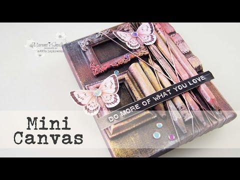 Recycling Trash on Mini Mixed Media Canvas ✂️ Maremi's Small Art