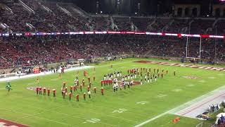Stanford band plays Russian anthem while spelling out USA