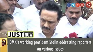 LIVE: M.K.Stalin addresses media after elected as DMK's Working President