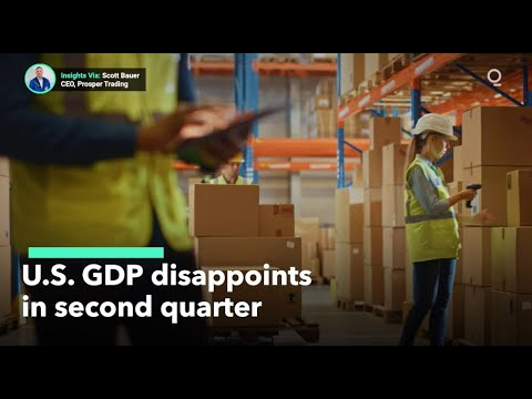 Inside the Numbers of U.S. GDP's Disappointing Second Quarter