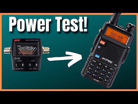 Baofeng GT-5R Power Test - Ham Radio