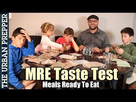 MRE Taste Test (Meals Ready To Eat) with Kids
