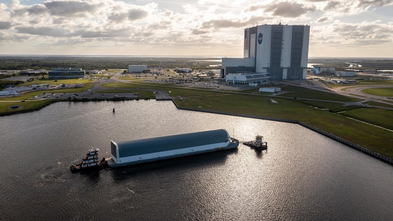 NASA Barge Crew Describes What It's Like to Transport Moon Rocket