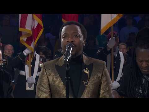 Anthony Hamilton Sings The United States National Anthem    2019 NBA All-Star