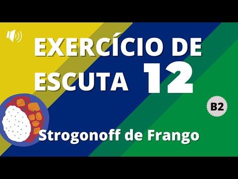 Exercício de escuta #12 - Nível B2 | Strogonoff de Frango | Vou Aprender Português