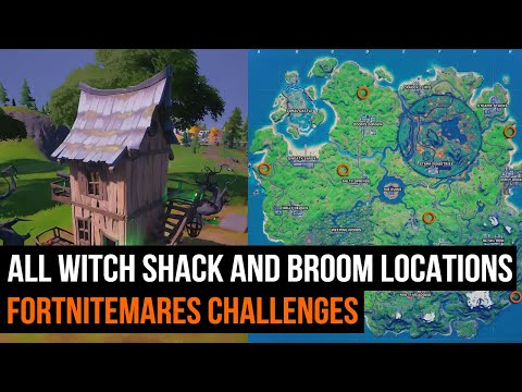 All Witch Shack and Witch Broom locations- FORTNITEMARES