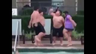 Funny kids dancing Migos Walk It Talk It at the pool