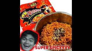 Samyang noodles 2x taste test (gone wrong 😣)