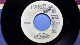 634-5789 , Marlow Tackett , 1982 45RPM