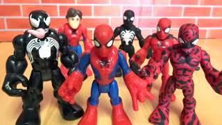 Marvel Playskool Spiderman, Venom, and Carnage