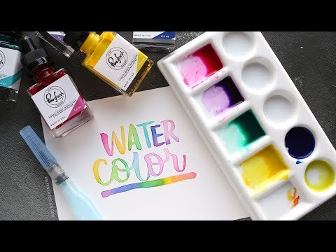Drop-In-Color Watercolor Lettering