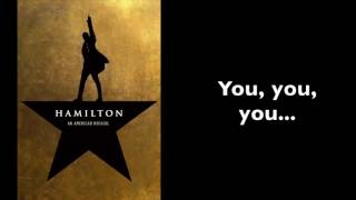 Hamilton | Burn [Instrumental/Karaoke With Lyrics in A Minor]
