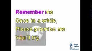 Phantom of the Opera - Think of Me (Karaoke Instrumental) w/ Lyrics