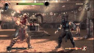 Mortal Kombat 9 [HD] - Sub Zero vs Expert Ladder Shao Khan