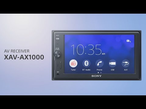 Sony XAV-AX1000 Apple CarPlay Media Receiver with BLUETOOTH®