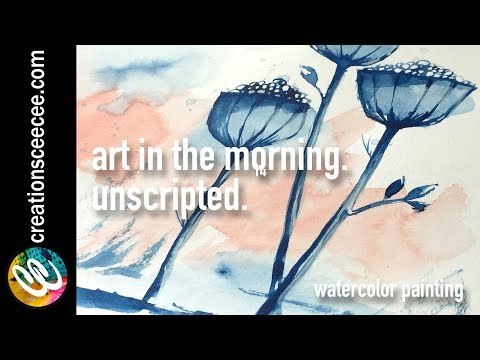 from a drawing to a watercolor painting